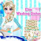 Elsa Washing Dishes igra